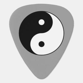 black and white zen yin yang guitar pick