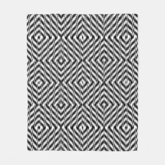 Black and White Zig Zag Fleece Blanket