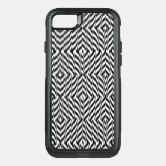 Black and White Zig Zag OtterBox Commuter iPhone 8/7 Case