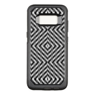 Black and White Zig Zag OtterBox Commuter Samsung Galaxy S8 Case