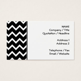Black and White Zig Zag Pattern. Business Card