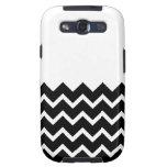 Black and White Zig Zag Pattern. Part Plain. Galaxy S3 Case