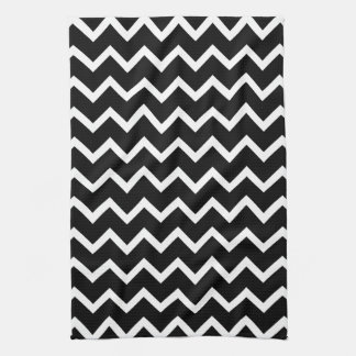 Black and White Zig Zag Pattern. Towel
