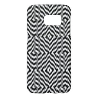 Black and White Zig Zag Samsung Galaxy S7 Case