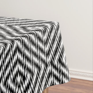 Black and White Zig Zag Tablecloth