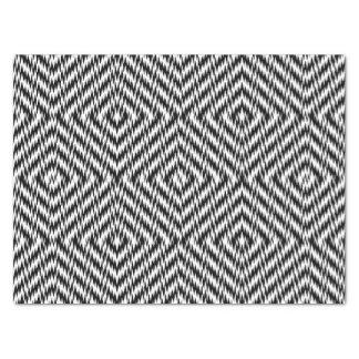 Black and White Zig Zag Tissue Paper