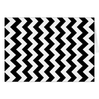 Black and White Zigzag Card