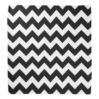 Black and White Zigzag Chevron Pattern Bandanna