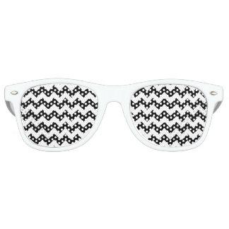 Black and White Zigzag Chevron Pattern Party Sunglasses