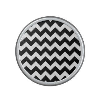 Black and White Zigzag Chevron Pattern Speaker