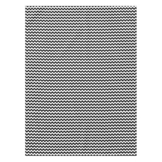 Black and White Zigzag Chevron Pattern Tablecloth