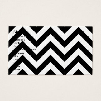 Black and white  Zigzag Chevrons Pattern Business Card