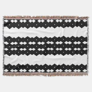 Black and White Zigzag Comfy Throw
