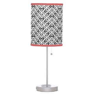 Black and white zigzag damask desk lamp