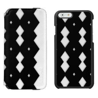 Black and White Zigzag Design Incipio Watson™ iPhone 6 Wallet Case
