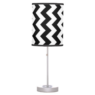 Black and White Zigzag Desk Lamp