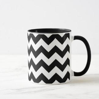 Black and White Zigzag Mug