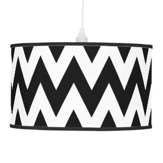Black and White ZigZag Pattern Pendant Lamp