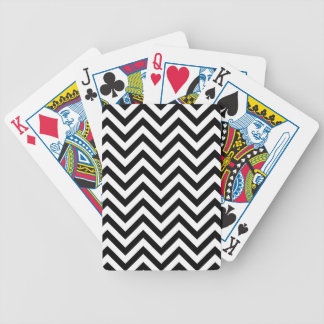 Black and White Zigzag Stripes Chevron Pattern Bicycle Playing Cards