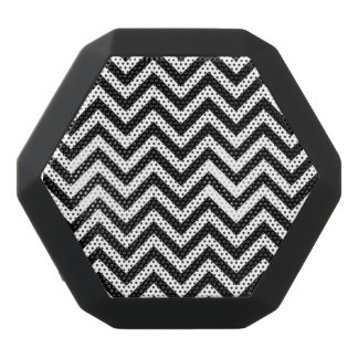 Black and White Zigzag Stripes Chevron Pattern Black Bluetooth Speaker