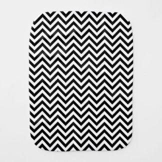 Black and White Zigzag Stripes Chevron Pattern Burp Cloth