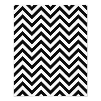 Black and White Zigzag Stripes Chevron Pattern Flyer