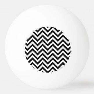 Black and White Zigzag Stripes Chevron Pattern Ping Pong Ball