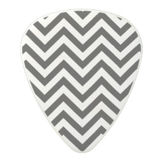 Black and White Zigzag Stripes Chevron Pattern Polycarbonate Guitar Pick