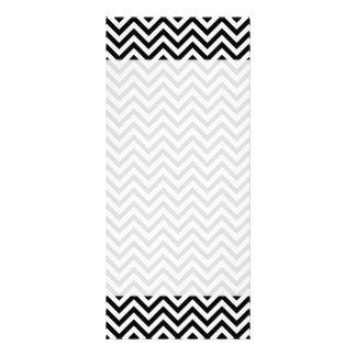 Black and White Zigzag Stripes Chevron Pattern Rack Card