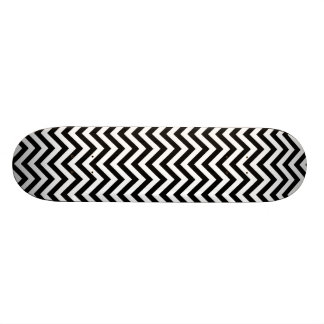 Black and White Zigzag Stripes Chevron Pattern Skate Board Decks