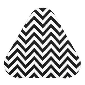 Black and White Zigzag Stripes Chevron Pattern Speaker