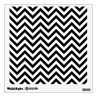 Black and White Zigzag Stripes Chevron Pattern Wall Decal