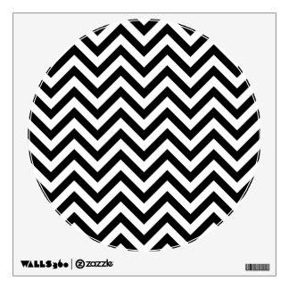 Black and White Zigzag Stripes Chevron Pattern Wall Sticker