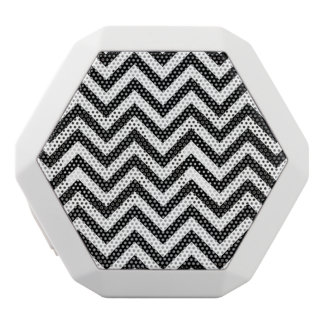 Black and White Zigzag Stripes Chevron Pattern White Bluetooth Speaker