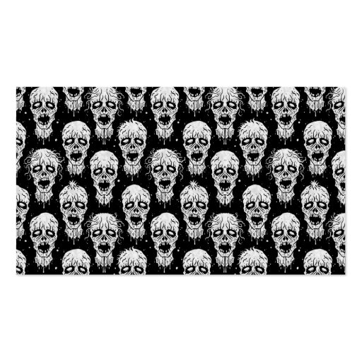 Black and White Zombie Apocalypse Pattern Business Cards