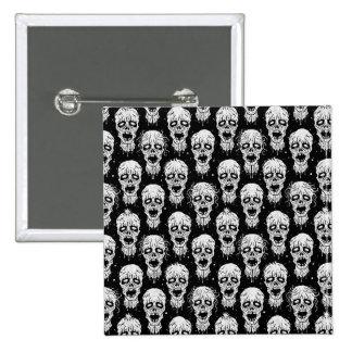 Black and White Zombie Apocalypse Pattern Pinback Button