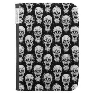 Black and White Zombie Apocalypse Pattern Kindle Folio Cases