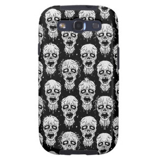 Black and White Zombie Apocalypse Pattern Samsung Galaxy SIII Cover