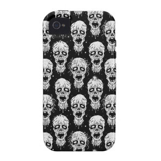 Black and White Zombie Apocalypse Pattern iPhone 4 Cases