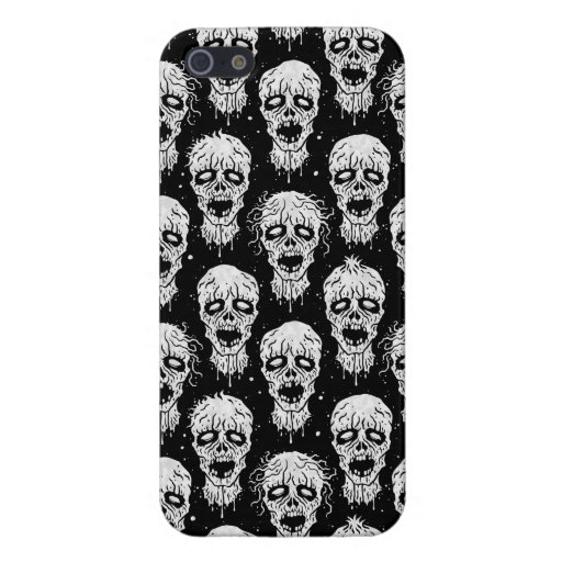 Black and White Zombie Apocalypse Pattern iPhone 5 Cases