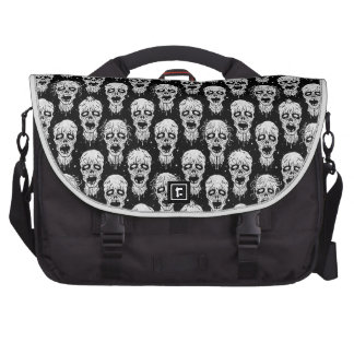 Black and White Zombie Apocalypse Pattern Laptop Computer Bag