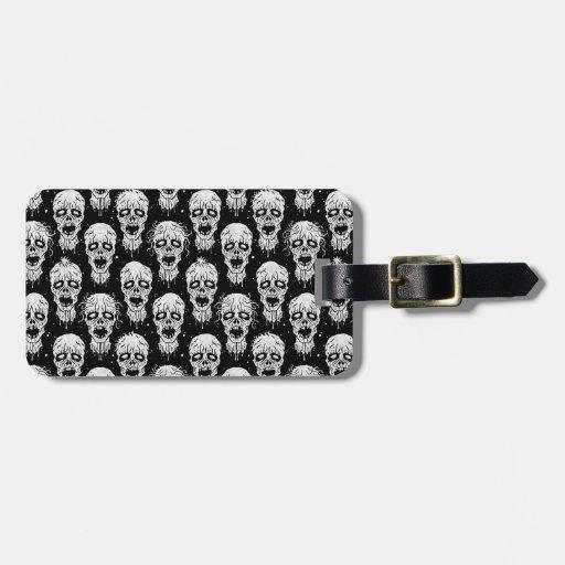 Black and White Zombie Apocalypse Pattern Travel Bag Tag