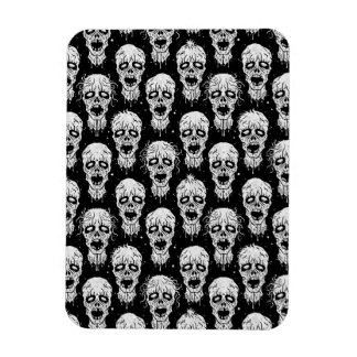 Black and White Zombie Apocalypse Pattern Magnet