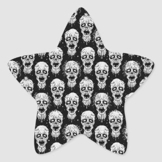 Black and White Zombie Apocalypse Pattern Stickers