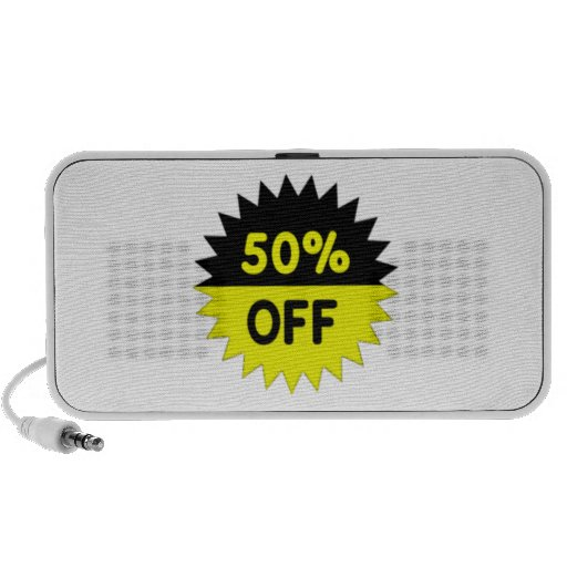 Black and Yellow 50 Percent Off Travel Speakers