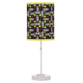 Black and Yellow Abstract Table Light Table Lamp