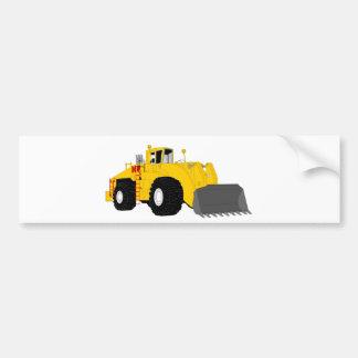 Black and Yellow Bulldozer Construction Machine Bumper Sticker