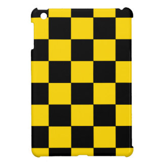 Black And Yellow Checkered iPad Mini Glossy Case iPad Mini Cover