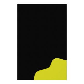Black and yellow custom stationery