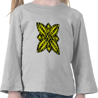 Black and Yellow Floral Tee Shirt